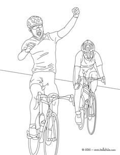 Nice Cycling Coloring Page Enjoy This Road Race More Sports