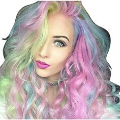 Pre-owned Colorful Malaysian Remy Full Lace Wig ($813) ❤ liked on Polyvore featuring accessories and none