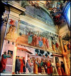 Chiesa di Santa Maria del Carmine - Cappella Brancacci - affreschi di Masaccio, Masolino da Panicale e Filippino Lippi