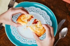 My favorite way to eat fruit and cheese with a bit of buttery, flaky pastry on the side.