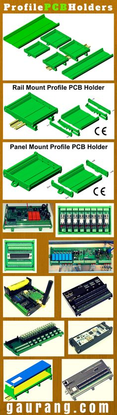 Mount your custom, Interface PCBs on DIN Rail / Panel Mount using PCB Holders