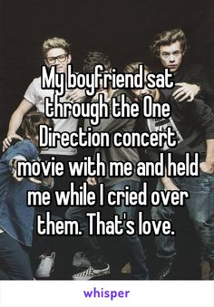 My boyfriend sat through the One Direction concert movie with me and held me while I cried over them. My boyfriend sat through the One Direction concert movie with me and held me while I cried over them. One Direction Concert, One Direction Quotes, One Direction Imagines, 1d Imagines, Harry Styles Imagines, One Direction Pictures, I Love One Direction, One Direction Little Things, Girly Things