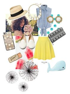 Marjorie by rockout247 on Polyvore featuring polyvore, fashion, style, QNIGIRLS, Charlotte Olympia, maurices, Kendra Scott, Kate Spade, Eugenia Kim, Casetify, Forever 21 and clothing