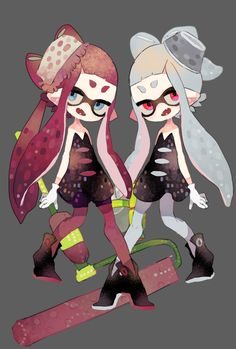 Gray and pink inklings