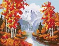 Vintage Fall Mountains – Wine and Numbers