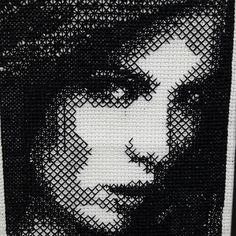 """Fantastic blackwork by Charlotte """"Hanging by a thread"""" Bailey."""