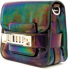 oil slick purse | Proenza Schouler Oil Slick Ps11 Tiny Holographic Leather Bag in Silver ...