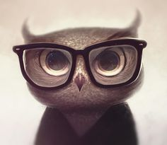 Nerdy Owl by *vincenthachen on deviantART #cute #characters #owl
