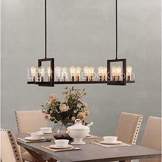 MAX:60W Lampadari ,  Vintage Pittura caratteristica for Stile Mini MetalloCamera da letto / Sala da pranzo / Sala studio/Ufficio / - EUR €225.39