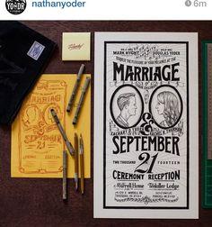 marriage invitation typography