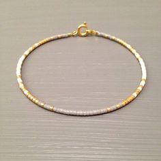 Tendance Joaillerie 2017   Gold Filled Bracelet Bead Gold bracelet Tiny Beaded Bracelet Gold fill jewelry