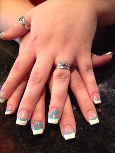 Baby boy feet nail art freehand