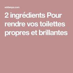 2 ingrédients Pour rendre vos toilettes propres et brillantes
