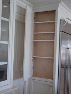 refrigerator end cabinet. Clever storage