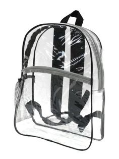 Bags for LessTM Clear Security Backpack Black Trim *** Read more at the image link.