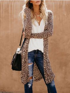 5d2fcceb9849 33 Best Leopard Print Cardigan images in 2016   Fall winter, Moda ...