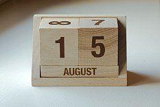 drewniany kalendarz english | 51,00 zł