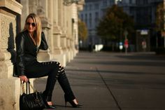 My Black Friday ... My Black, Black Friday, Leather Pants, Chic, Jeans, Collection, Style, Fashion, Leather Jogger Pants