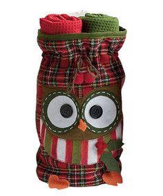 Love this Owl Dish Towel Gift Set  Pinned by www.myowlbarn.com