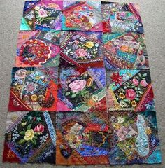 I ❤ crazy quilting . . . Stitching Always: Crazy Quilt 2011. Jewel Tone