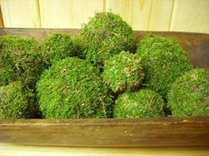 Set of 9 Moss balls or pomander assorted sizes, natural organic woodland addition to your home. on Etsy, $28.50