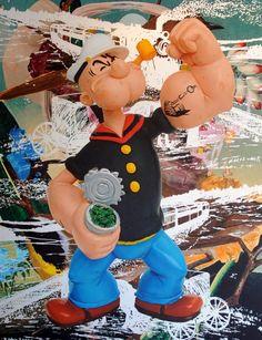 Popeye Train (Birds) oil on canvas 108 x 84 inches x cm © Jeff Koons 2009 Jeff Koons Art, Pop Art, Balloon Dog Sculpture, Takashi Murakami, Balloon Animals, Hirst, Art Icon, High Art, Mixed Media Artists
