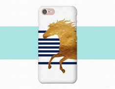 """""""Blue and Gold Horse phone case from Atlantek Designs. Shop on Etsy! 