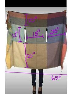 Sewing Hacks, Sewing Tutorials, Sewing Crafts, Sewing Tips, Diy Crafts, Dress Sewing Patterns, Clothing Patterns, Pattern Sewing, Poncho Patterns