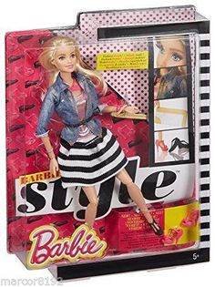 2014 Barbie Doll Style Blond Fashion Details Head to Toe New Flats To Heels Rooted Eyelashes Articulated 100+ poses