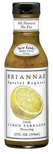 Seriously Good Stuff!  Low Calorie too! Lively Lemon Tarragon - Brianna's Salad Dressing; located in Brenham Texas. #golocal