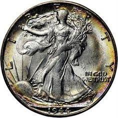 Walking Liberty Half Dollars - 1944 S 50C MS