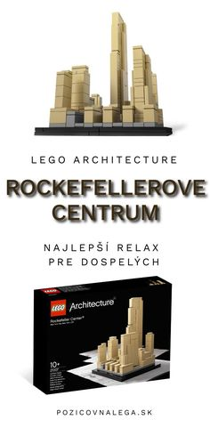 Ikona v štýle Art Deco - to je Rockefellerove centrum. V obchodoch už nekúpite, ale u nás si ju môžete požičať. Lego Architecture, Big Ben, Minecraft, Bookends, Art Deco, Relax, Decor, Decoration, Decorating