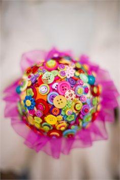Summer brights button bouquet  - Pumpkin and Pye