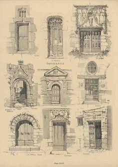 Samuel Chamberlain (1895-1975-American) - DARF - Plate 11.6 - Doorways - 1928