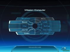 Mass Effect Windows Main in-game menu