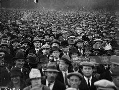 A crowd at the demonstration in Hyde Park with regard to the Sacco and Vanzetti affair. Sacco and Vanzetti were arrested for a post office robbery and murder in Massachusetts, USA and their conviction carried implications of political bias because of their communist sympathies.