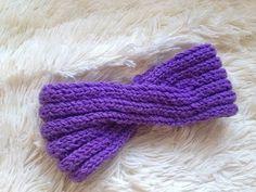 Вязание спицами. Повязка- тюрбан на голову женская - YouTube