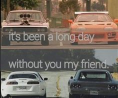fast and furious it-s been a long day paul walker see you again The Furious, Fast And Furious, Paul Walker Tribute, Dom And Letty, Long Day, Teen Room Decor, Quotes, Poems, Favorite Things