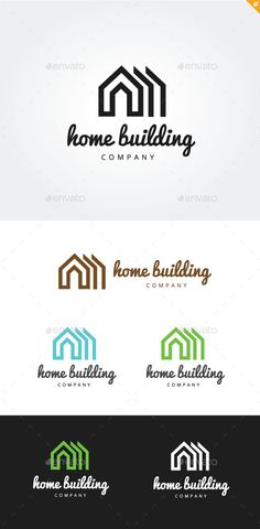 Home Building Logo Design Template Vector #logotype Download it here: http://graphicriver.net/item/home-building/9145123?s_rank=261?ref=nexion