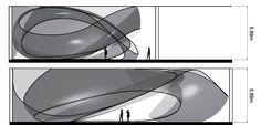 JS Bach Chamber Music Hall - Architecture - Zaha Hadid Architects. Beautiful + simple drawing