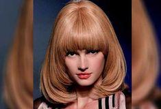 Bob Hairstyles With Bangs, Short Hair With Bangs, Retro Hairstyles, Pageboy Haircut, Mushroom Hair, 70s Hair, Strawberry Blonde Hair, Fru Fru, Grunge Hair