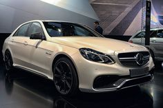 2014 E63 AMG S 4Matic 5.5-liter Biturbo V8 in White Front Angle by AntonStetner, via Flickr #detroitautoshow #naias