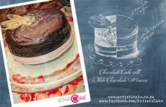 Decadent combination of rich dark chocolate cake, layered with white chocolate mousse and iced with chocolate fudge White Chocolate Mousse, Dark Chocolate Cakes, Chocolate Fudge, Cake Ideas, Wedding Cakes, Birthday Cake, Desserts, Food, Wedding Gown Cakes