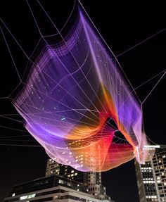 """Unnumbered Sparks"""" - Net Sculpture over Vancouver, TED Conference ..."""