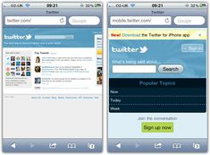 Why We Shouldn't Make Separate Mobile Websites..  READ MORE..  http://www.smashingmagazine.com/2012/04/19/why-we-shouldnt-make-separate-mobile-websites/