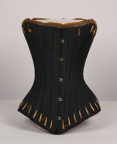 9fad7a63b2 Date Made  Description  Corset  black with gold trim