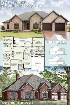 cool residential house plans. Architectural Designs House Plan 59811ND gives you 4 beds  3 baths and has a COOL ID chp 49911 Total Living Area 3766 sq ft