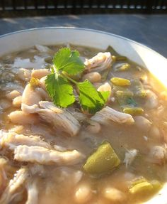 White Chili recipe.   It's a family favorite!  We have this at least 3 to 4 times a month!  :)  YUM!