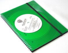 NEU Green Vinyl Notizbuch Cover Schallplatte. made by VinylKunst Aurum - Schallplatten Upcycling der besonderen ART via DaWanda.com