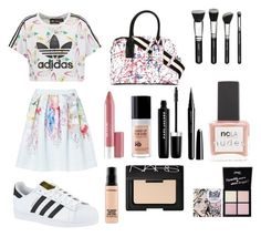 """heyho so i made some holiday outfit, i hope you guys like it "" by auliaarist on Polyvore featuring adidas Originals, adidas, Marc Jacobs, Ted Baker, Revlon, ncLA, MAKE UP FOR EVER, NARS Cosmetics, Pop Beauty and MAC Cosmetics"
